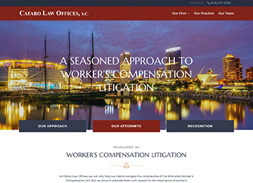 Cafaro Law Offices, s.c. – Website