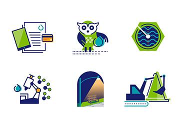 Milwaukee Water Works Icons